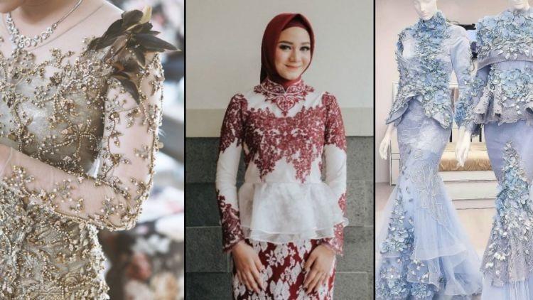Jual Kebaya Modern Hijab Untuk Pengantin Wisuda Pesta